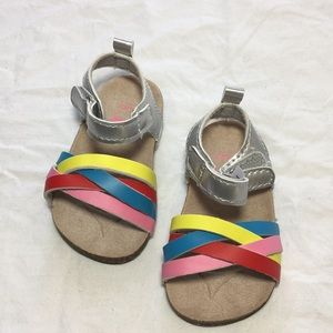 🌸Carters multi color baby sandals